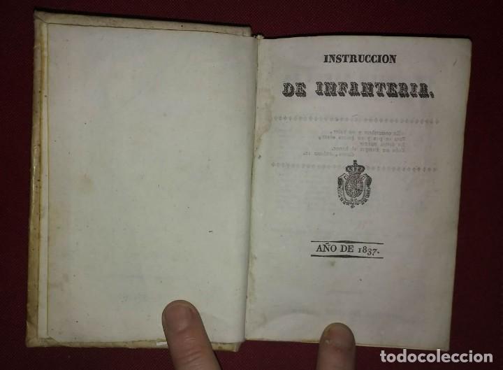 Militaria: 1837 Instruccion de infanteria. Recopilación de penas militares - Foto 3 - 114387227