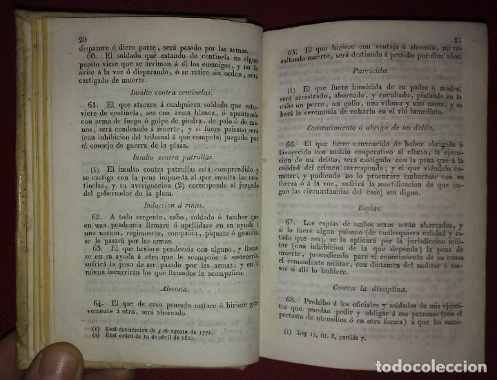Militaria: 1837 Instruccion de infanteria. Recopilación de penas militares - Foto 5 - 114387227