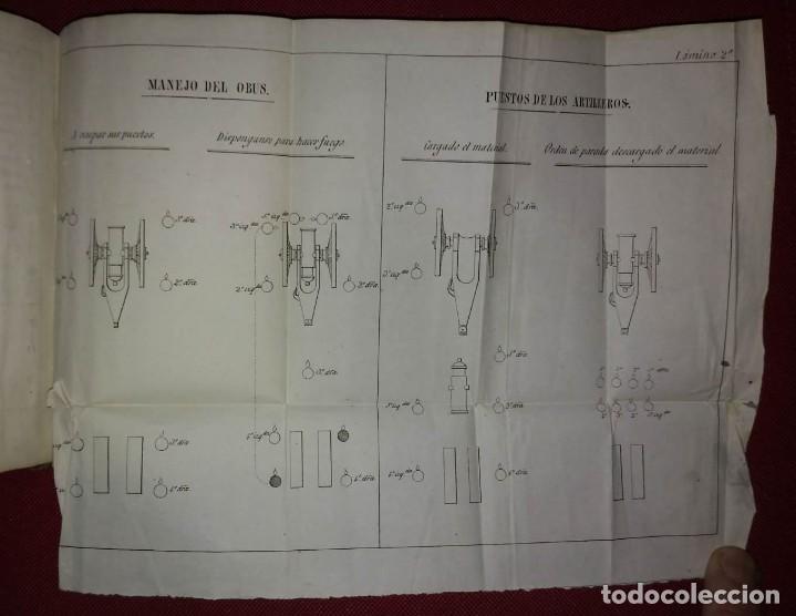 Militaria: 1837 Tácticas de las brigadas de artillería de montaña. Libros militares - Foto 4 - 114406275