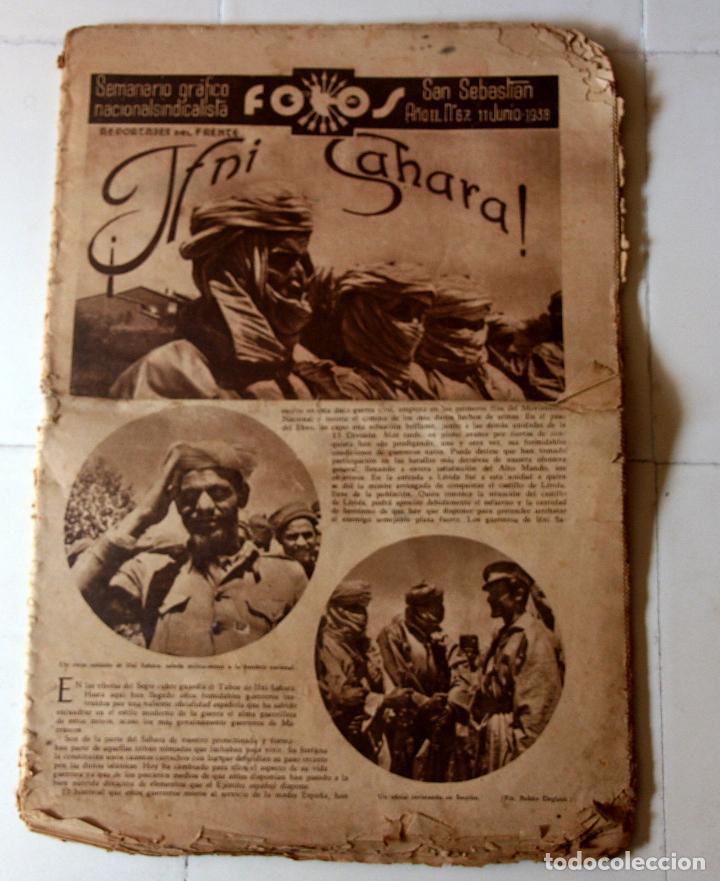REVISTA FOTOS. FALANJE. GUERRA CIVIL. NUMERO IFNI SAHARA. (Militar - Libros y Literatura Militar)