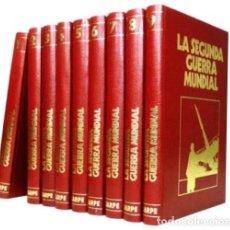 Militaria: B218 - LA SEGUNDA GUERRA MUNDIAL. COMPLETA. 9 TOMOS. CRONICA MILITAR Y POLITICA. ED. SARPE 1978.. Lote 114874451