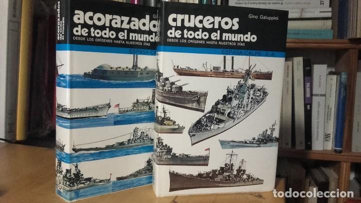 ACORAZADOS Y CRUCEROS DE TODO EL MUNDO. DESDE LOS ORIGENES HASTA NUESTROS DIAS. 2 TOMOS. (Militar - Libros y Literatura Militar)