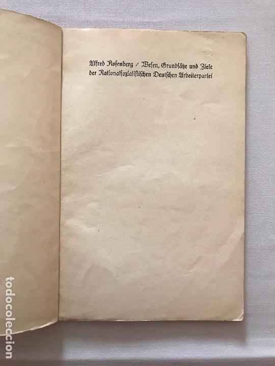 Militaria: Libro Wesen, Grundsätze und Ziele der NSDAP. Alfred Rosenberg 1922, Tercer Reich, nazi, NSDAP hitler - Foto 3 - 115297919
