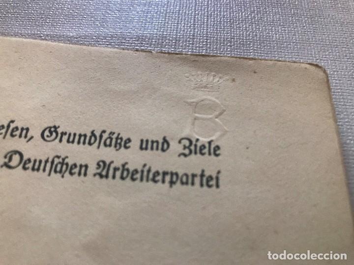 Militaria: Libro Wesen, Grundsätze und Ziele der NSDAP. Alfred Rosenberg 1922, Tercer Reich, nazi, NSDAP hitler - Foto 4 - 115297919