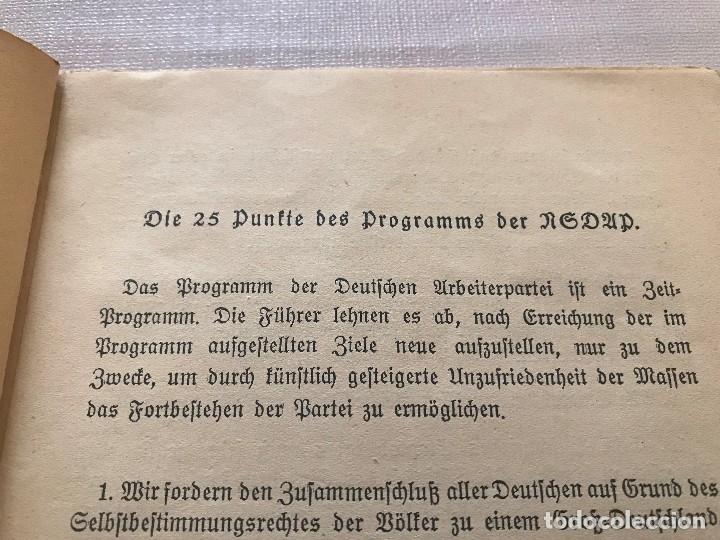 Militaria: Libro Wesen, Grundsätze und Ziele der NSDAP. Alfred Rosenberg 1922, Tercer Reich, nazi, NSDAP hitler - Foto 6 - 115297919