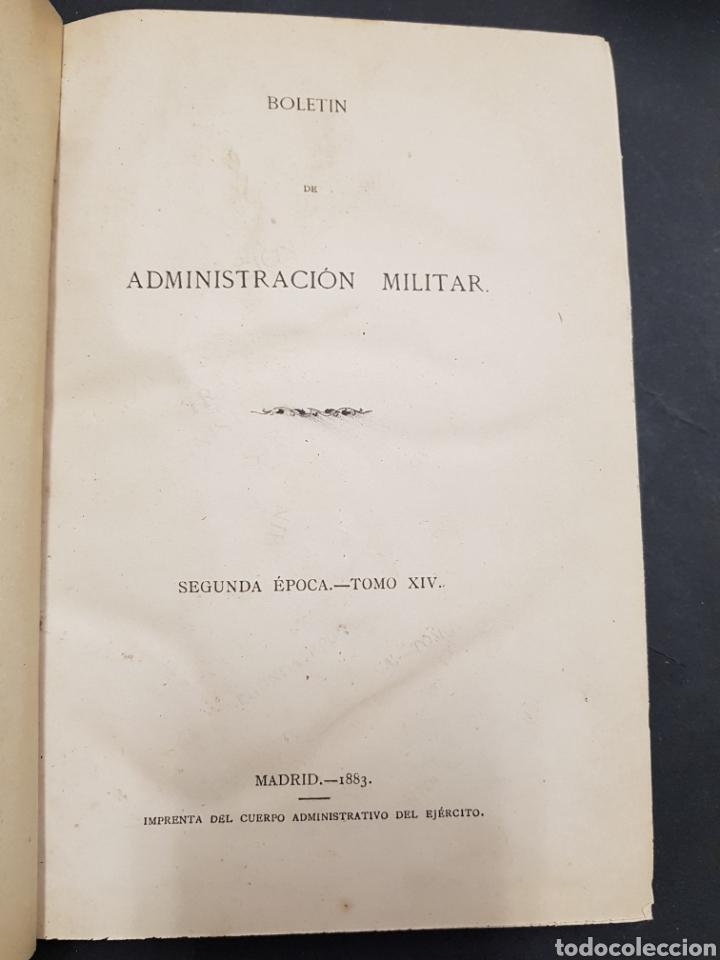 Militaria: Boletin de administracion militar - madrid 1883 - tdk163 - Foto 3 - 115708666