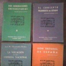 Militaria: LOTE FALANGE DE LAS JONS (SIETE OBRAS). Lote 115755155