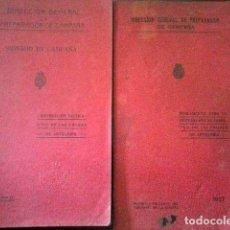 Militaria: 2 LIBROS DIRECCION GENERAL CAMPAÑA. 1927. Lote 115755887