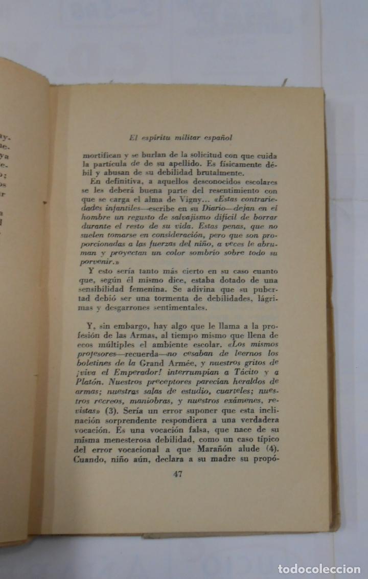 Militaria: EL ESPIRITU MILITAR ESPAÑOL. REPLICA A ALFREDO DE VIGNY. - VIGON, JORGE. 1950. TDK297 - Foto 2 - 115787203