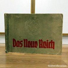 Militaria: 1933 ALBUM ALEMAN - EL NUEVO REICH - HISTORIA DEL NAZISMO -PARTIDO NAZI NSDAP HITLER GOEBBELS CROMOS. Lote 116540703
