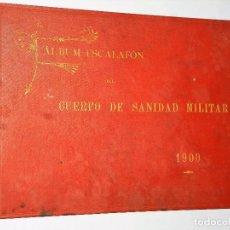 Militaria: ALBUM-ESCALOFÓN DEL CUERPO DE SANIDAD MILITAR 1900. Lote 116755995