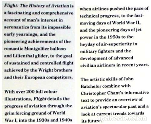 Militaria: FLIGHT - THE HISTORY OF AVIATION - JOHN BATCHELOR / CHRIS CHANT 1990 - VER INDICE Y FOTOS - Foto 2 - 116775611