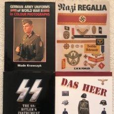 Militaria: 4 LIBROS MILITARIA, DAS HEER, NAZI REGALIA, GERMAN ARMY, TERCER REICH, HITLER, NSDAP, SS. Lote 116823227