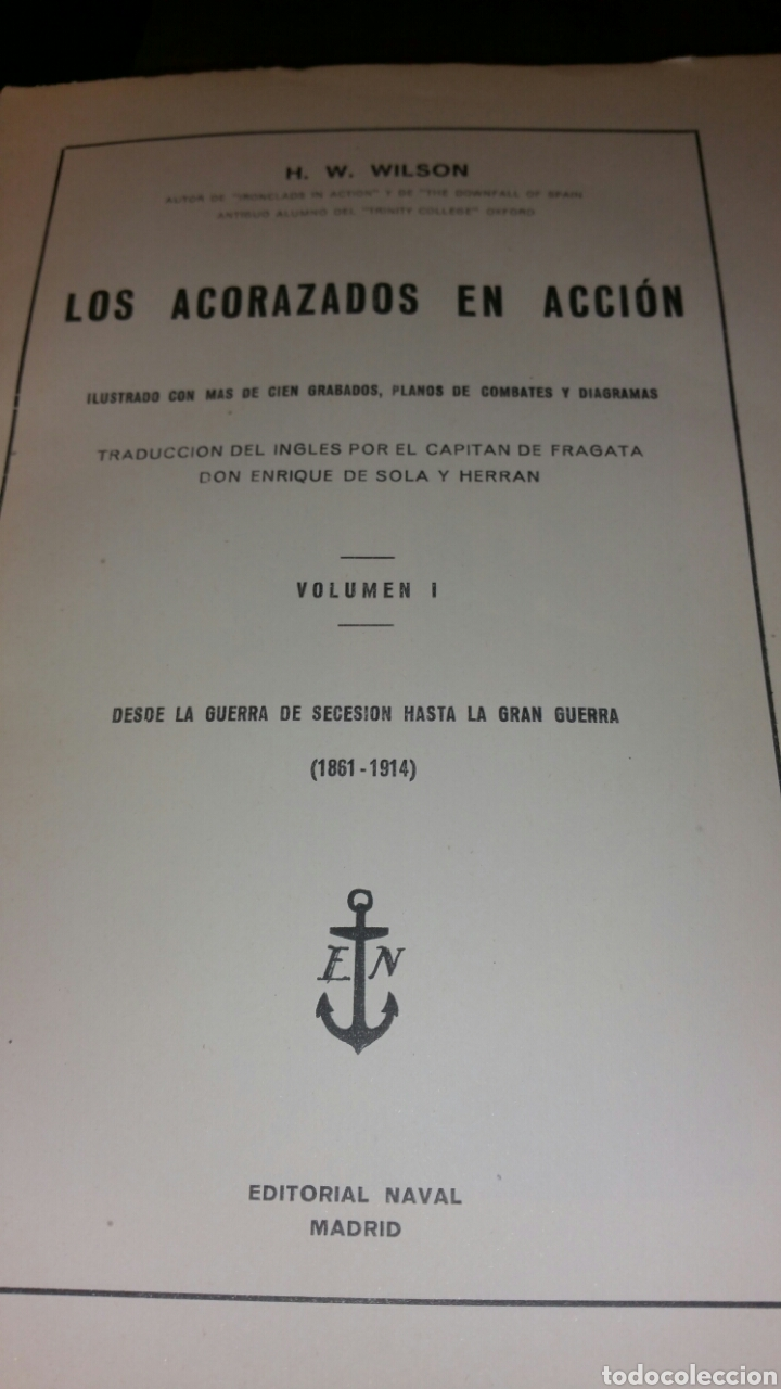 Militaria: Los acorazados en acción volumen número 1 servicio histórico del Estado Mayor de la Armada - Foto 4 - 117524962