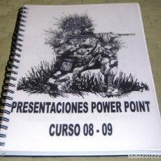 Militaria: ORDEN DE COMBATE, CURSO 2008/9. PRESENTACIONES EN POWER POINT. ACADEMIA GENERAL MILITAR (AGM).. Lote 118330231