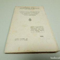 Militaria: 818- LIBRO ANEXO VII MORTEROS VER DESCRIPCION AÑO 1928 MADRID. Lote 118792347