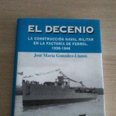 Militaria: EL DECENIO..LA COSNTRUCCION NAVAL MILITAR EN FERROL...1936-1946..JOSE M. GONZALEZ -LLANOS. Lote 119489487