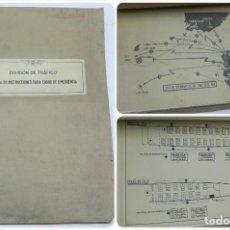 Militaria: MANUAL DE INSTRUCCIONES PARA CASOS DE EMERGENCIA, DIVISION DE TRAFICO, AVIACION, CON LAMINAS DESPLEG. Lote 120497495
