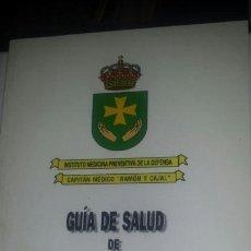 Militaria: GUIA DE SALUD DE SOLDADO Y EL MARINERO. Lote 122531139