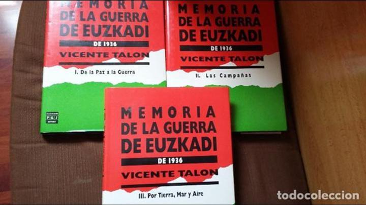 VICENTE TALON: MEMORIA DE LA GUERRA DE EUZKADI DE 1936 (Militar - Libros y Literatura Militar)