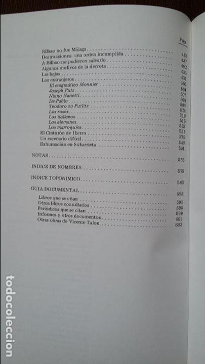 Militaria: Vicente Talon: Memoria de la Guerra de Euzkadi de 1936 - Foto 9 - 122674279