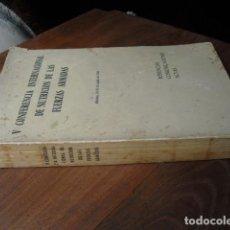 Militaria: 1962 V CONFERENCIA NACIONAL DE NUTRICION DE LAS FUERZAS ARMADAS. Lote 123616463