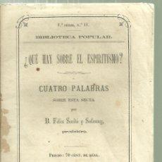 Militaria: 1743.-BIOGRAFIA DE JOSE MANSO SOLÀ CONDE DE LLOBREGAT-GUERRA INDEPENDENCIA-TRIENIO LIBERAL-CARLISMO. Lote 124534983