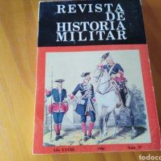 Militaria: 9 TOMOS DE LA REVISTA DE HISTORIA MILITAR. Lote 124812916