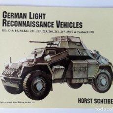 Militaria: GERMAN LIGHT RECONNAISSANCE VEHICLES - PANZER - SCHIFFER. Lote 125940875