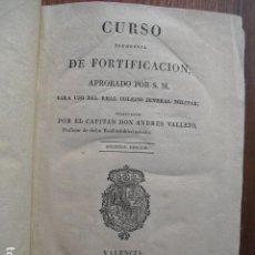 Militaria: 1827 CURSO ELEMENTAL DE FORTIFICACION PARA USO DE ALUMNOS DEL COLEJIO JENERAL MILITAR J. VALLEJO. Lote 128039363