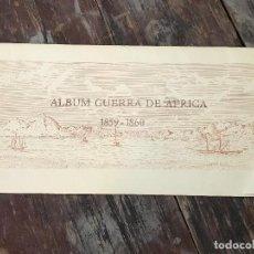 Militaria: ÁLBUM GUERRA DE ÁFRICA 1859 - 1860. FACSÍMIL 15 LAMINAS DE 55 X 27.5 CM.. Lote 128390367