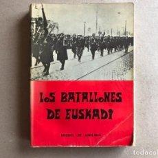 Militaria: LOS BATALLONES DE EUSKADI POR MIGUEL DE AMILIBIA. ED. TXERTOA, 1978.. Lote 128452455