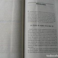 Militaria: 1868 MISCELANEA DEL MEMORIAL DE INGENIEROS. Lote 129260531