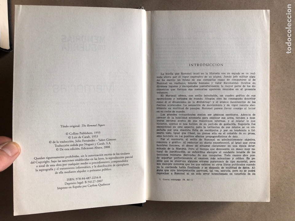 Militaria: ERWIN ROMMEL, MEMORIAS. ED. ALTAYA (2008). COLECCIÓN MEMORIAS DE GUERRAS. - Foto 2 - 129369071