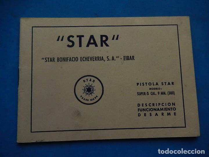 Militaria: Manual Pistola Star. Modelo Super-S. Cal. 9mm. (380). - Foto 2 - 129737159