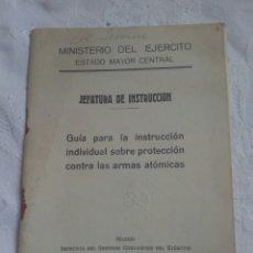 Militaria: LIBRO MILITAR POST GUERRA CIVIL PROTECCIÓN ARMAS QUÍMICAS.FRANCO.EJERCITO.INFANTERIA.FALANGE.POLICIA. Lote 130268847