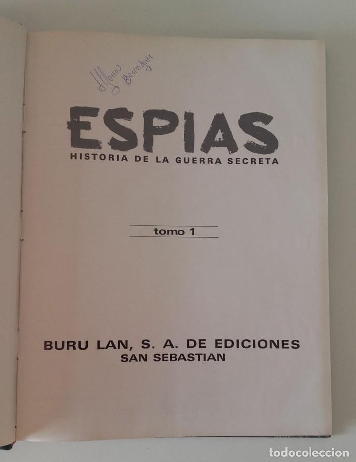 Militaria: Libro Espías, Historia de la Guerra Secreta, volumen 1, Buru Lan 1971 - Foto 2 - 130760900