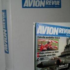 Militaria: AVION REVUE INTERNACIONAL. 12 NÚEROS. DEL 1 DE JUNIO DE 1982 A 6 DE JUNIO DE 1983. Lote 130859548