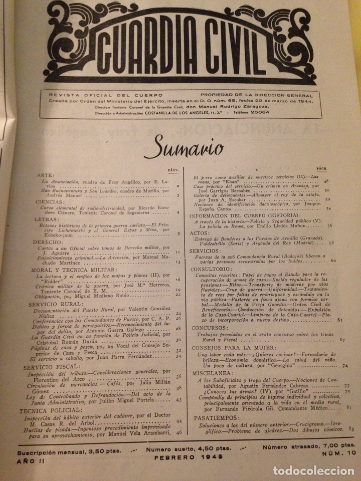Militaria: Revista oficial guardia civil, febrero 1945. - Foto 3 - 130913477