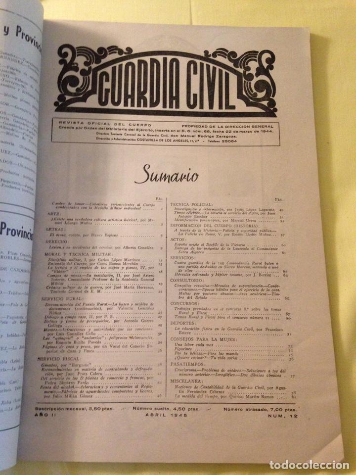 Militaria: Revista oficial guardia civil, abril 1945. - Foto 2 - 130914505