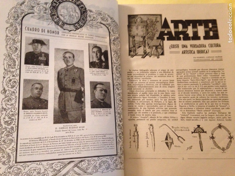 Militaria: Revista oficial guardia civil, abril 1945. - Foto 3 - 130914505