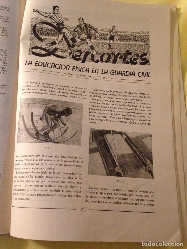 Militaria: Revista oficial guardia civil, abril 1945. - Foto 8 - 130914505