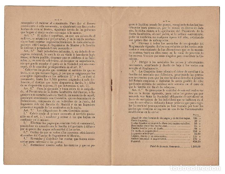 Militaria: REGLAMENTO LOS CASOS DE ENFERMEDADES GRAVES Y DEFUNCIONES. CUERPO INGENIEROS DE MONTES 1896 - Foto 3 - 198314302