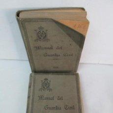 Militaria: MANUAL DEL GUARDIA CIVIL. TOMO I Y II. RICARDO BURGUETE LANA. 1926. VER FOTOGRAFIAS ADJUNTAS. Lote 132182414