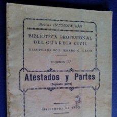 Militaria: REVISTA DE INFORMACION BIBLIOTECA PROFESIONAL GUARDIA CIVIL ATESTADOS Y PARTES DICIEMBRE 1935. Lote 132199734