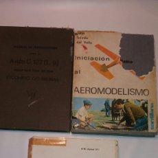 Militaria: LOTE 3 LIBROS AVIACIÓN AVIÓN AEROMODELISMO MILITAR AIRE. Lote 133452969
