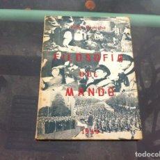 Militaria: PEDRO RECACHO EGUÍA. FILOSOFÍA DEL MANDO (ENSAYOS) 1946. Lote 134125466