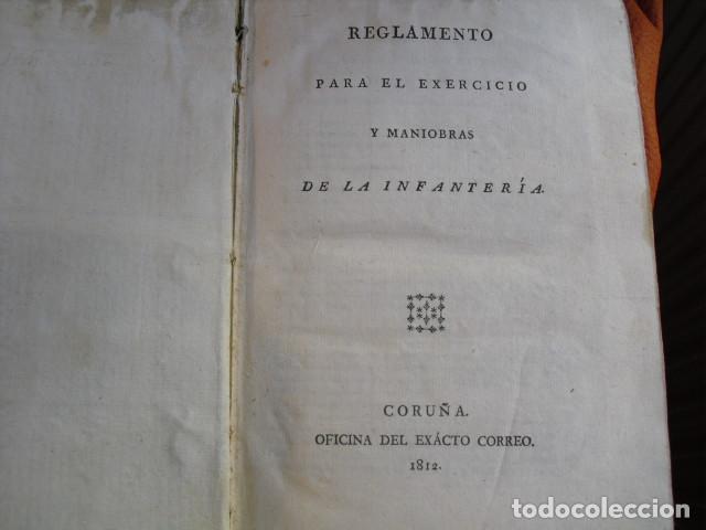 Militaria: 1812 REGLAMENTO PARA EL EXERCICIO Y MANIOBRAS DE LA INFANTERIA LXVIII LÁMINAS - Foto 5 - 134216418