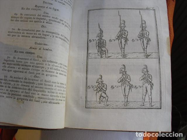Militaria: 1812 REGLAMENTO PARA EL EXERCICIO Y MANIOBRAS DE LA INFANTERIA LXVIII LÁMINAS - Foto 8 - 134216418