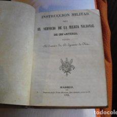 Militaria: 1854 INSTRUCCION MILITAR PARA EL SERVICIO DE LA MILICIA NACIONAL DE INFANTERIA. Lote 134217646